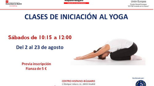 Clases de yoga en el Centro Hispano Búlgaro