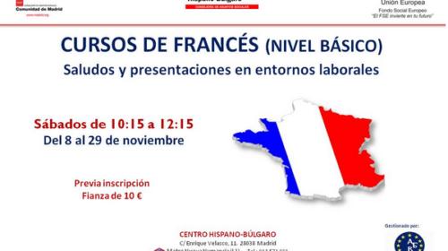Curso de francés en el Centro Hispano Búlgaro
