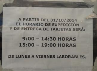 Horario de expedici n y entrega de tarjetas en aluche for Oficina de extranjeria madrid aluche
