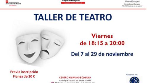 Taller de Teatro en el Centro Hispano Búlgaro