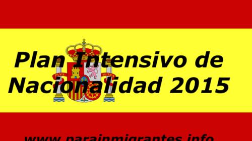 Plan Intensivo de Nacionalidad 2015