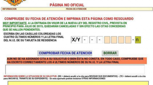 Cancelación de citas de nacionalidad a partir de Julio de 2015