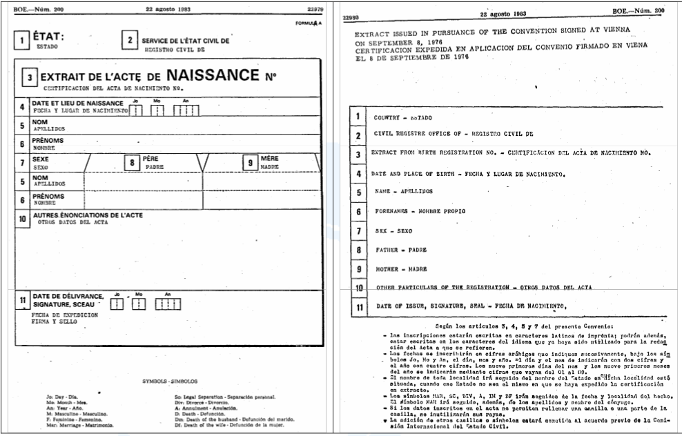 Documentos plurilingües