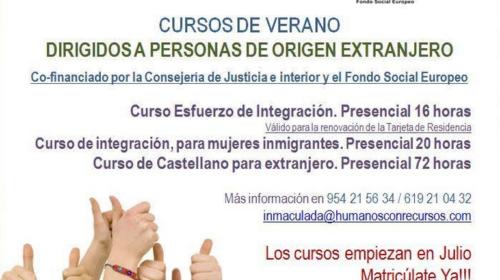Cursos de verano dirigidos a personas de origen extranjero