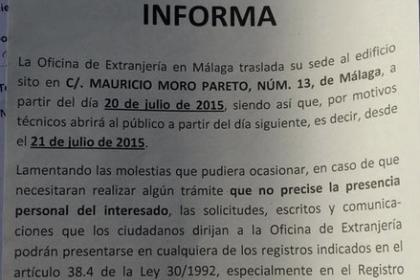 Nueva Oficina de Extranjería en Málaga