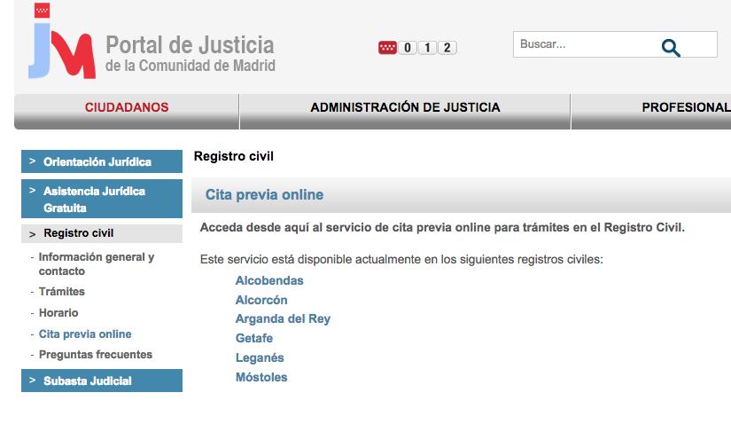 Cita previa registro civil de madrid for Oficina de empleo de arganda del rey