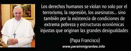 frases inmigración papa francisco