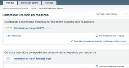 web de solicitud de nacionalidad española