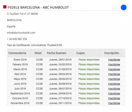 examen de nacionalidad española pruebas ccse barcelona enero