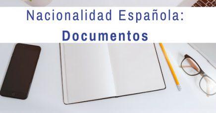 documentos nacionalidad española