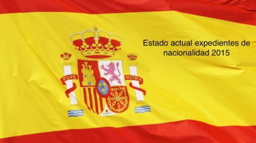 Expedientes de nacionalidad 2015. Estado actual