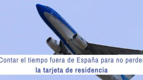 Contar el tiempo fuera de España para no perder la tarjeta de residencia