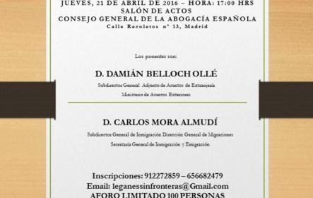 Charla-Coloquio «Los visados en el régimen comunitario»