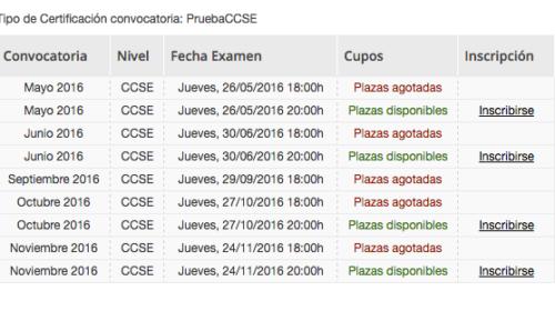 Nuevas plazas para examen CCSE de Nacionalidad Española