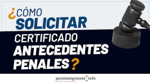 Certificado de Antecedentes Penales de España