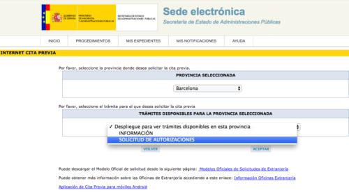 Presentación de solicitudes de extranjería en Barcelona