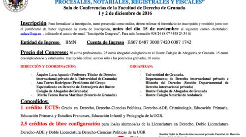 Congreso Internacional sobre sucesión de extranjeros y españoles