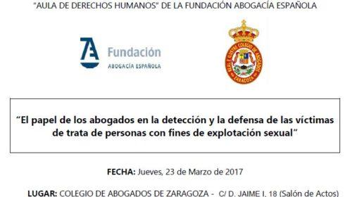Jornada sobre detección y defensa de las víctimas de trata de personas con fines de explotación sexual