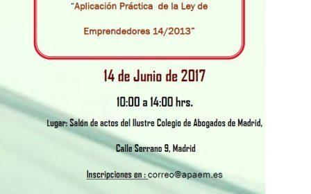 Jornada «Aplicación práctica de la Ley de Emprendedores»