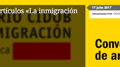 Convocatoria de artículos «La inmigración en España»