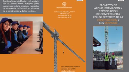 Proyecto «Apoyo, Formación y Certificación de Competencias en los sectores de la Construcción y los Servicios»