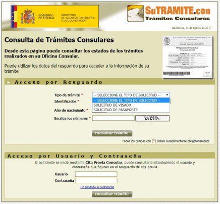 consulta de trámites consulares
