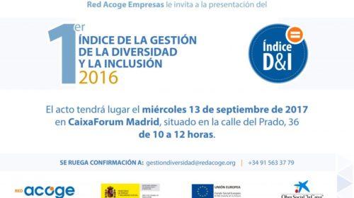 1º Índice de gestión de la diversidad y la inclusión 2016