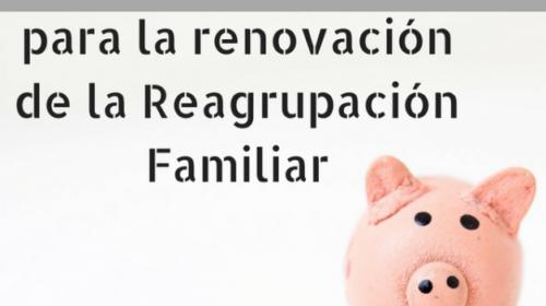 Medios económicos para la renovación de la reagrupación familiar