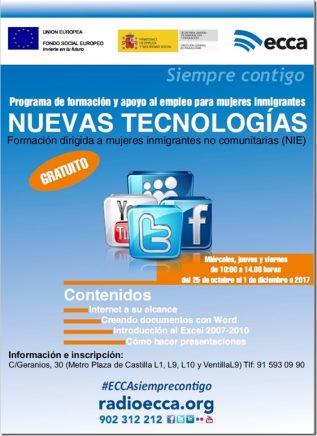 Curso gratuito en Nuevas Tecnologías Fundación Radio ECCA