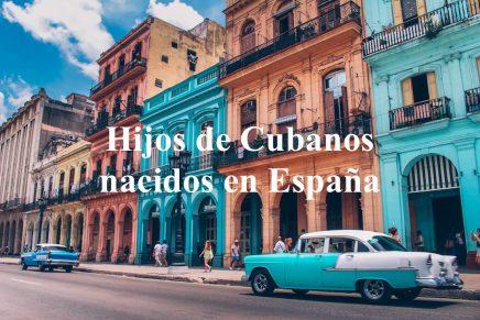 Hijos de cubanos nacidos en España