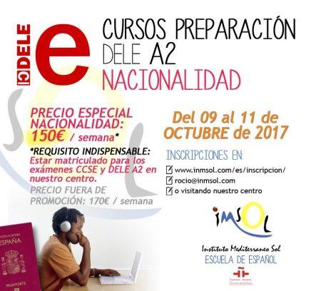 cursos de preparación al examen DELE A2 en octubre