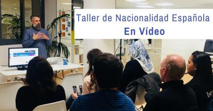 Taller de Nacionalidad Española en Vídeo