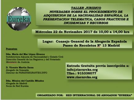 taller de nacionalidad española en madrid