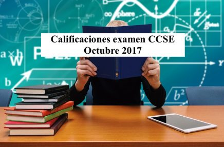 Calificaciones examen CCSE Octubre 2017
