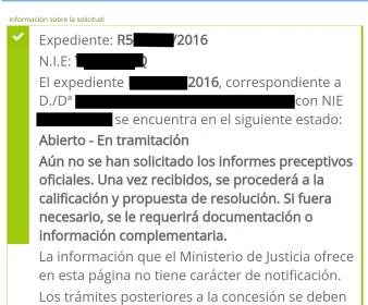 Comienza la tramitación de los expedientes telemáticos de nacionalidad española