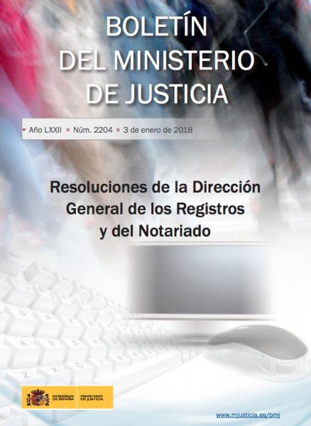 Resoluciones de la Dirección General de los Registros y del Notariado. Enero 2017