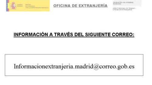 Cambios en el correo de información y duplicados en la Oficina de Extranjería en Madrid