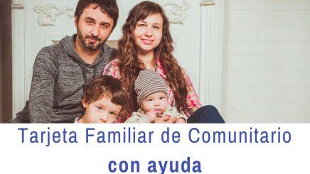 Tarjeta de familiar de comunitario con ayuda