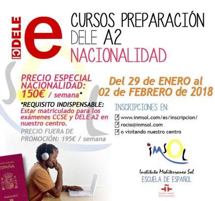 Cursos de preparación al examen DELE A2 en Enero 2018