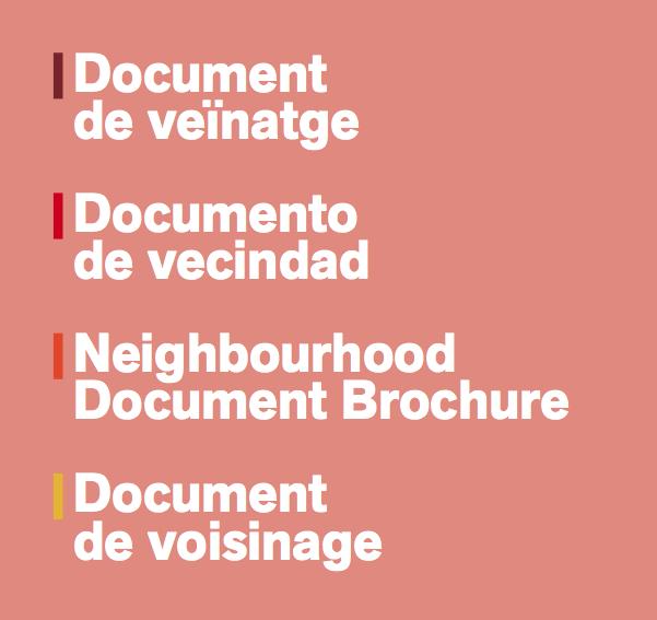 Documento de vecindad Barcelona