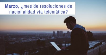 resoluciones de nacionalidad de la vía telemática