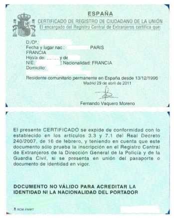 Certificados UE en Madrid
