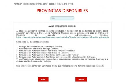 Citas para renovaciones de autorizaciones en Madrid