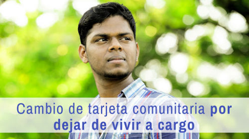 Tarjeta Comunitaria: Familiar a cargo que trabaja a jornada completa