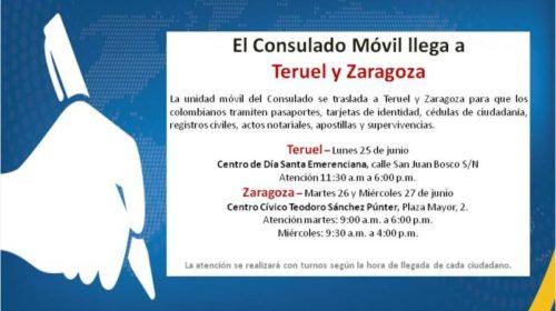 Consulado móvil de Colombia. Junio 2018