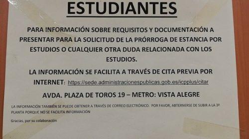 Información para estudiantes en Madrid