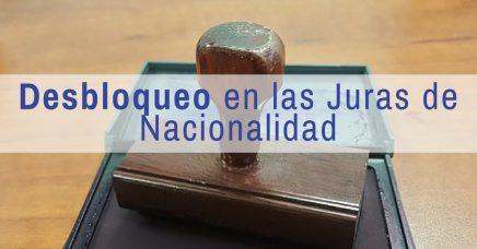 Desbloqueo en las Juras de Nacionalidad en Barcelona
