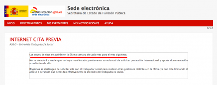 Citas con trabajador social en la Oficina de Asilo y Refugio en Madrid