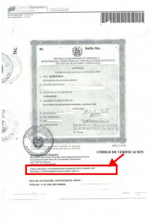 Apostillas falsas en documentos de Venezuela