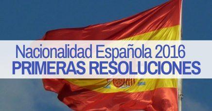 Primeras resoluciones de expedientes de nacionalidad de 2016 presentados por vía telemática
